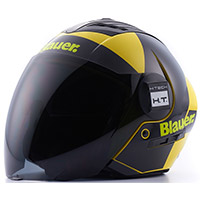 Casco Blauer Real Graphic A Giallo Nero
