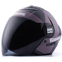 Casco Blauer Real Graphic A Nero Opaco Titanio