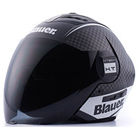 Casco Blauer Real Graphic B Nero Opaco Bianco