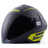 Casco Blauer Real Graphic B Nero Opaco Giallo