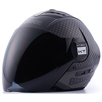 Casco Blauer Real Graphic B Nero Opaco Titanio