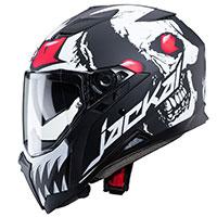 Caberg Jackal Darkside Helmet Black White Red