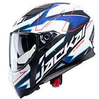 Caberg Jackal Techno Helmet White Blue Red