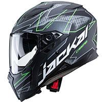 Caberg Jackal Techno Helmet Black Fluo Green