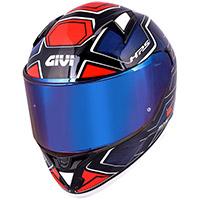 Casco Givi 50.6 Sport Deep Blu Rosso