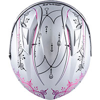 Givi 50.6 Stoccarda Mendhi Helmet Silver Pink Lady