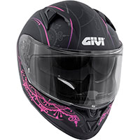 Givi 50.6 Stoccarda Mendhi Helmet Black Pink Lady