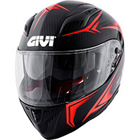 Givi 40.5 Xカーボンヘルメット ブラックレッド