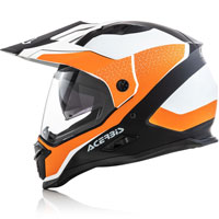 Casque Acerbis Reactive Graffix Blanc Orange