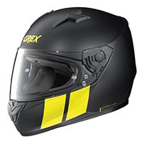 Grex G6.2 Stripes Full Face Helmet Black Yellow