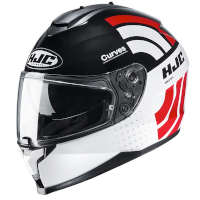 Casco Hjc C70 Curves Bianco Rosso