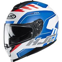 Hjc C70 Koro Helmet White Blue Red