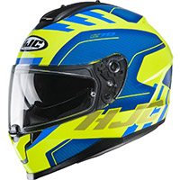 Hjc C70 Koro Helmet Blue Yellow