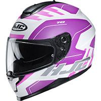 Hjc C70 Koro Helmet Pink White Lady