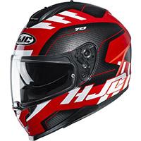 Hjc C70 Koro Helmet Black Red