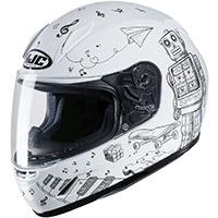 Hjc Cl Y Wazo Youth Helmet White Kid