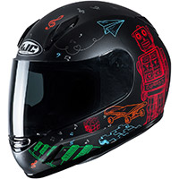Hjc Cl Y Wazo Youth Helmet Black Kid