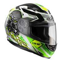 Hjc Cs-15 Rafu Mc4h Helmet Green White Black