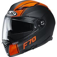 Casco Hjc F70 Mago Nero Arancio