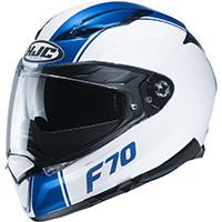 Casco Hjc F70 Mago Blu Bianco