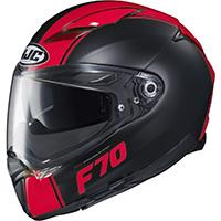 Casco Hjc F70 Mago Nero Rosso