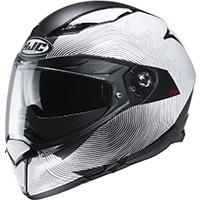Hjc F70 Samos Helmet Black White
