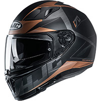 Casco Hjc I70 Eluma Nero Marrone