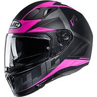 Casco HJC I70 Eluma negro rosado