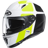 Hjc I70 Prika Helmet White Yellow