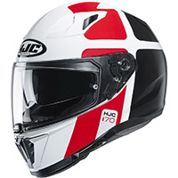 Casco HJC I70 Prika blanco rojo