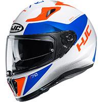 Hjc I70 Tas Helmet White Orange Blue