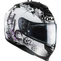 Hjc Is-17 Barbwire Mc31 Nero Bianco Rosa Donna