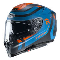 Casco Hjc Rpha 70 Carbon Reple Blu Opaco