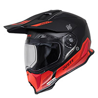 Casco Just-1 J14 F Elite rojo fluo negro
