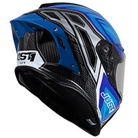 Casco Just-1 J GPR Carbon Instinct azul fluo