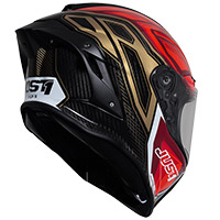 Casco Just-1 J GPR Carbon Instinct rojo fluo