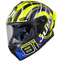 Casco Just-1 J GPR Carbon Replica Torres amarillo