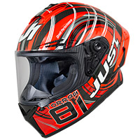 Casco Just-1 J GPR Carbon Replica Torres rojo