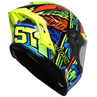 Casco Just-1 J GPR Carbon Tribe azul amarillo