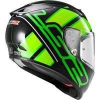 Ls2 Arrow R Evo Ff323 Ion Nero/verde Fluo