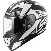 Ls2 Arrow R Evo Ff323 Neon Nero Opaco/bianco Lucido
