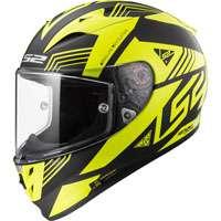 Ls2 Arrow R Evo Ff323 Neon Nero Opaco/giallo Lucido H-v