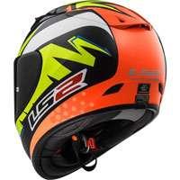 Ls2 Arrow R Evo Ff323 Volt Nero/arancio/giallo H-v