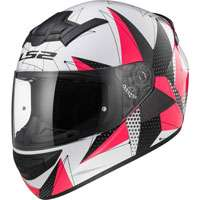 Ls2 Rookie Ff352 Brilliant Bianco/rosa Donna