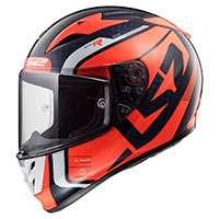Ls2 Arrow C Evo Ff323 Sting Blu/arancione Fluo