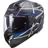 Ls2 Challenger Carbon Ff327 Konic Blu Opaco