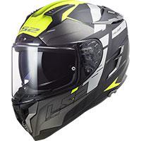 Ls2 Ff327 Challenger Allert Helmet Titanium Yellow