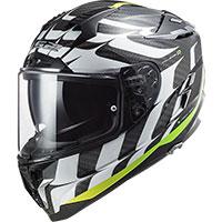 Ls2 Ff327 Challenger Carbon Flames Helmet White