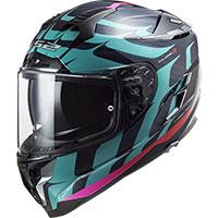 Ls2 Ff327 Challenger Carbon Flames Helmet Blue Red