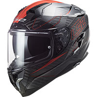 Casco Ls2 Ff327 Challenger Carbon Fold Rosso
